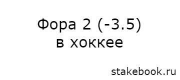 Фора Ф2 -3,5 в ставках на хоккей