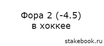 Фора Ф2 -4,5 в ставках на хоккей